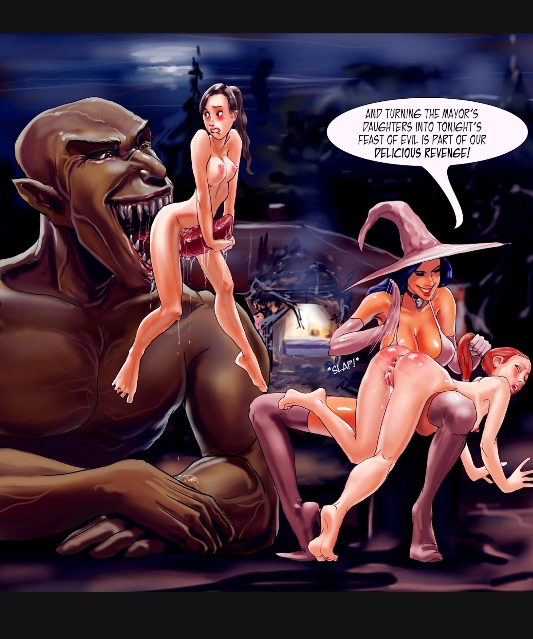 Секс с ведьмой в лесу 9 фотография